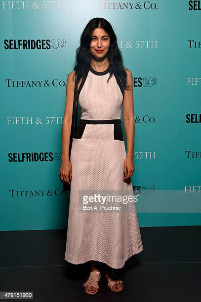 Caroline Issa arrives at the Tiffany Co immersive exhibition 'Fifth 57th' at The Old Selfridges Hotel on July 1 2015 in London England