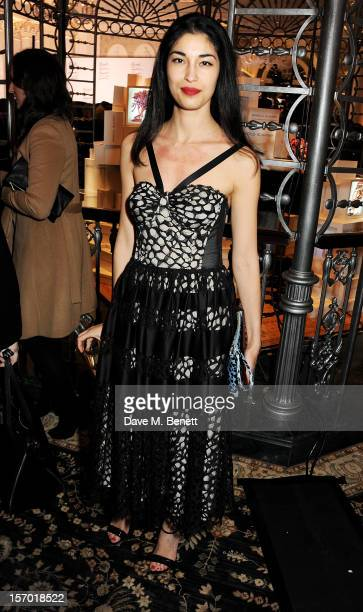 Caroline Issa attends a drinks reception at the British Fashion Awards 2012 at The Savoy Hotel on November 27 2012 in London England
