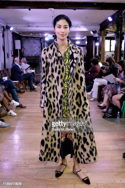 Caroline Issa attends Liberty London Collection launches their debut ready-to-wear line at a runway show at Liberty on June 12, 2019 in London,...