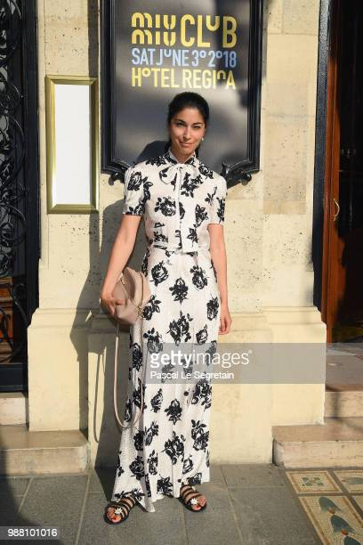 Caroline Issa attends Miu Miu 2019 Cruise Collection Show at Hotel Regina on June 30 2018 in Paris France
