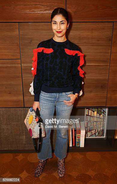 Caroline Issa attends the BFC Fashion Trust x Farfetch cocktail reception on April 28, 2016 in London, England.