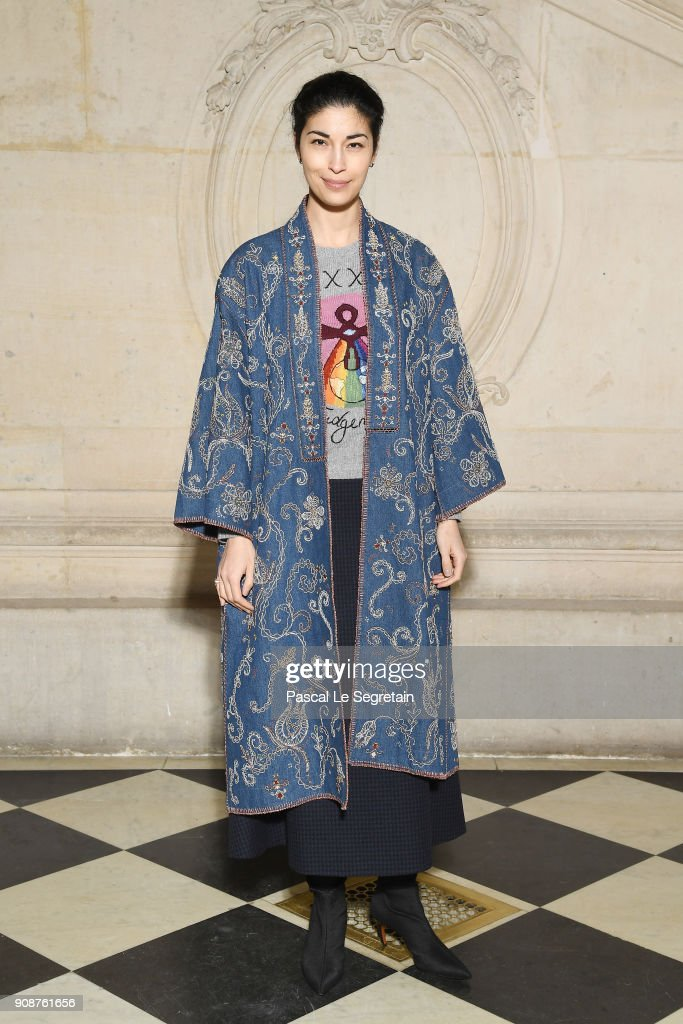 Caroline Issa attends the Christian Dior Haute Couture Spring Summer 2018 show as part of Paris Fashion Week on January 22, 2018 in Paris, France.