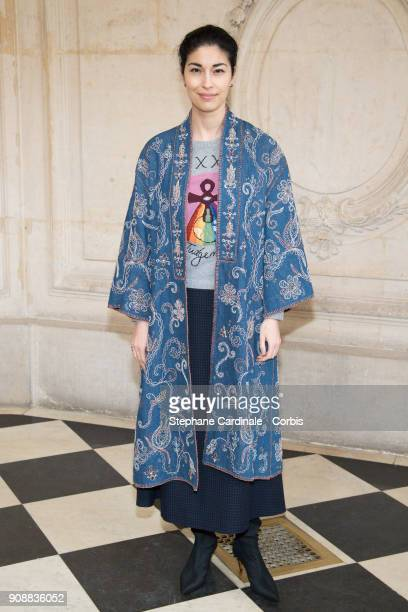 Caroline Issa attends the Christian Dior Haute Couture Spring Summer 2018 show as part of Paris Fashion Week January 22 2018 in Paris France