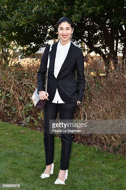 Caroline Issa attends the Christian Dior Spring Summer 2016 show as part of Paris Fashion Week on January 25 2016 in Paris France