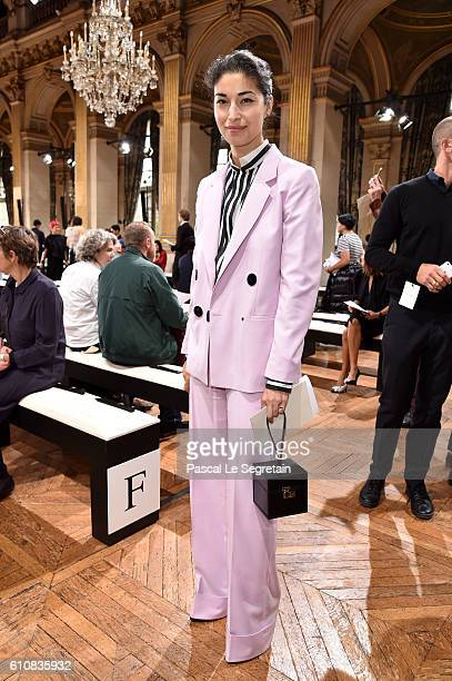 Caroline Issa attends the Lanvin show as part of the Paris Fashion Week Womenswear Spring/Summer 2017 on September 28 2016 in Paris France
