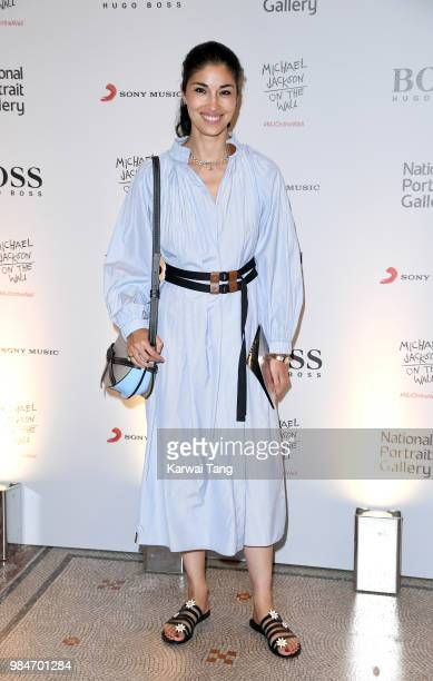 Caroline Issa attends the 'Michael Jackson On The Wall' Private View sponsored by HUGO BOSS at the at National Portrait Gallery on June 26 2018 in...