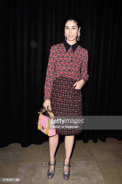 Caroline Issa attends the Miu Miu Club launch of the first Miu Miu fragrance and croisiere 2016 collection at Palais d'Iena on July 4 2015 in Paris...
