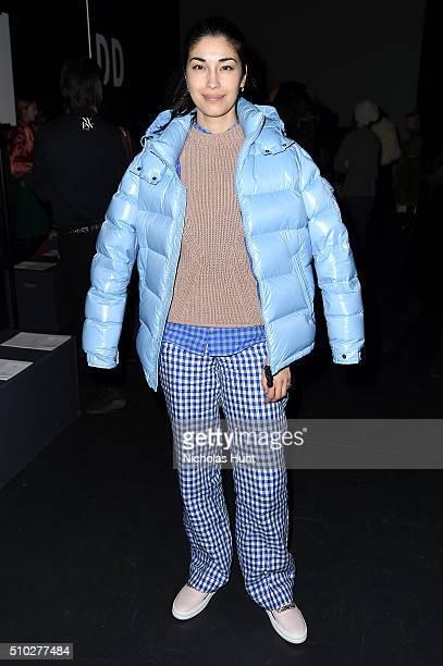 Caroline Issa attends the Prabal Gurung Fall 2016 fashion show during New York Fashion Week The Shows at The Arc Skylight at Moynihan Station on...