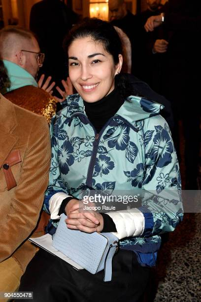 Caroline Issa attends the Versace show during Milan Men's Fashion Week Fall/Winter 2018/19 on January 13 2018 in Milan Italy