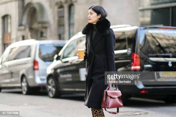 Caroline Issa is seen during London Fashion Week Men's January 2018 at on January 6 2018 in London England