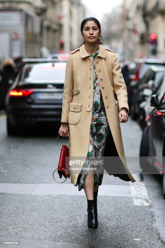 Caroline Issa is seen, outside the Veronique Branquinho show, during Paris Fashion Week Womenswear Fall/Winter 2017/2018, on March 6, 2017 in Paris, France.
