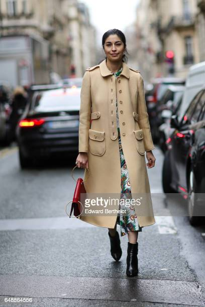 Caroline Issa is seen outside the Veronique Branquinho show during Paris Fashion Week Womenswear Fall/Winter 2017/2018 on March 6 2017 in Paris France