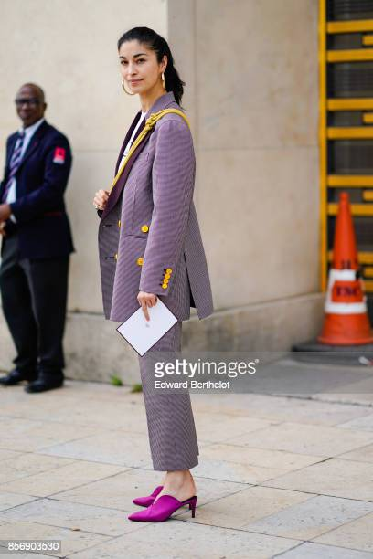 Caroline Issa outside Hermes during Paris Fashion Week Womenswear Spring/Summer 2018 on October 2 2017 in Paris France