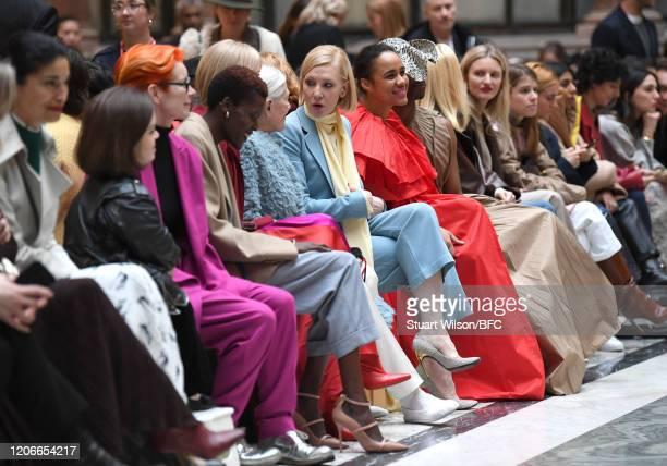 Caroline Issa Sinead Burke Sandy Powell Sheila Atim Joely Richardson Vanessa Redgrave Cate Blanchett Zawe Ashton and Billy Porter sit front row for...