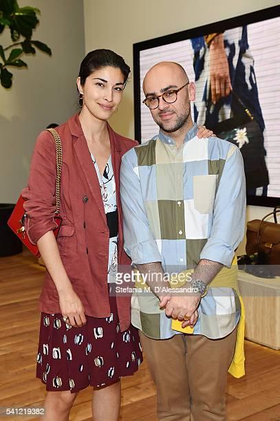 Caroline Issa with Bally Design Director Pablo Coppola at the Bally Men's Spring Summer 2017 Presentation during Milan Fashion Week on June 19 2016...