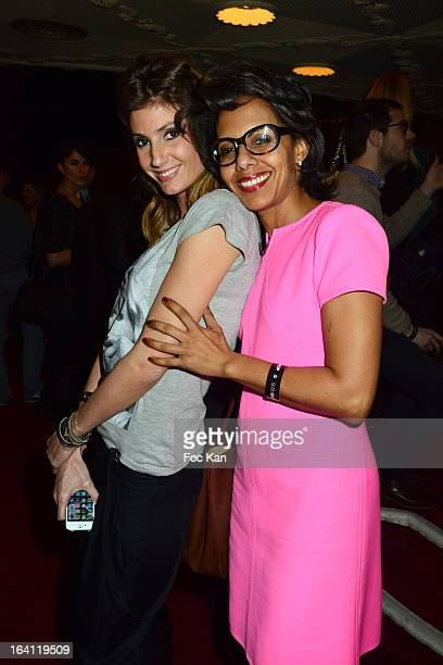 Caroline Ithurbide and Audrey Pulvar attend the Sushi Shop's Box Endorsed By Kate Moss Launch At La Nouvelle Eve Cabaret on March19 2013 in Paris...