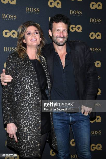 Caroline Ithurbide and Boris Ehrgott attend GQ Men Of The Year Awards 2017 at Le Trianon on November 15 2017 in Paris France
