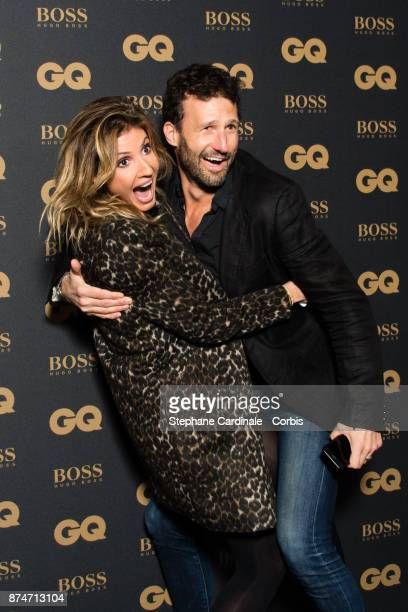 Caroline Ithurbide and his companion Boris Ehrgott attend the GQ Men Of The Year Awards 2017 at Le Trianon on November 15 2017 in Paris France
