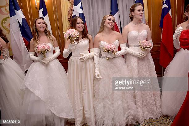 Caroline Jahr Sophie Aliece Hollis AnnaRiley Crenshaw and Claire Chlebowski attend 62nd International Debutante Ball at The Pierre Hotel on December...