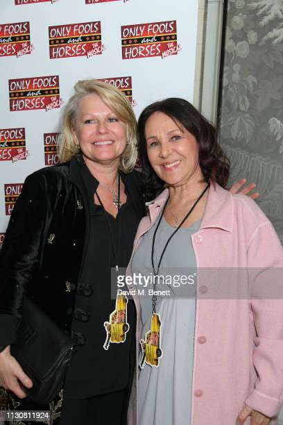 Caroline Jay Ranger and Arlene Phillips attend the press night after party for 'Only Fools And Horses The Musical' at The Haymarket Hotel on February...