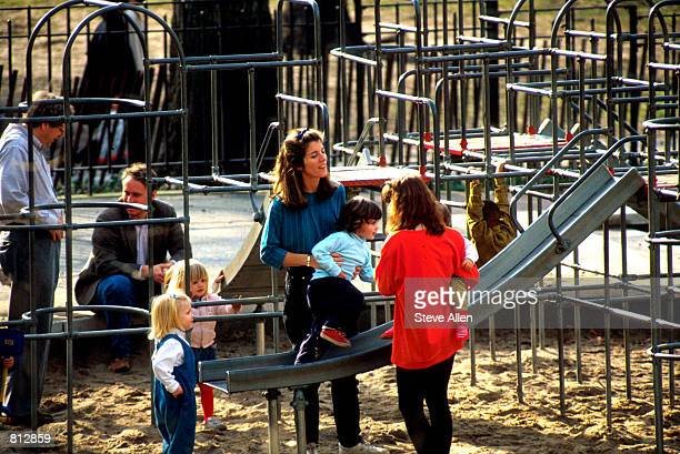 **EXCLUSIVE** Caroline Kennedy and daughter Rose in Central Park New York City March 2 1991