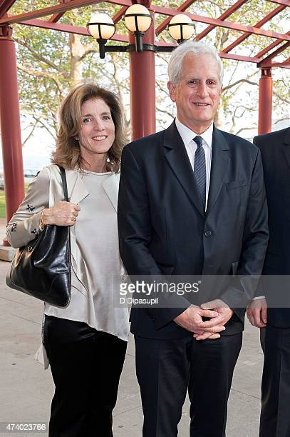 Caroline Kennedy and Edwin Schlossberg attend 2015 Statue of LibertyEllis Island Foundation's Gala In The Great Hall at Ellis Island National Museum...