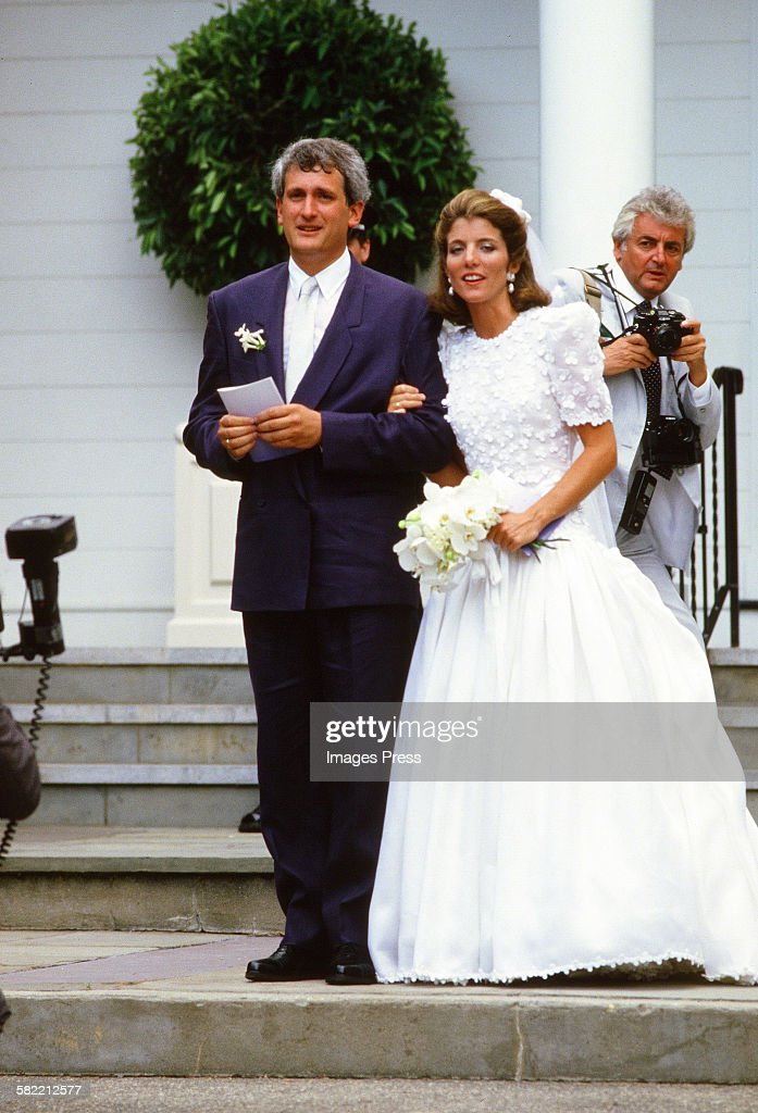 Caroline Kennedy R And Edwin Schlossberg Attends Their Wedding Ceremony In The Church Of
