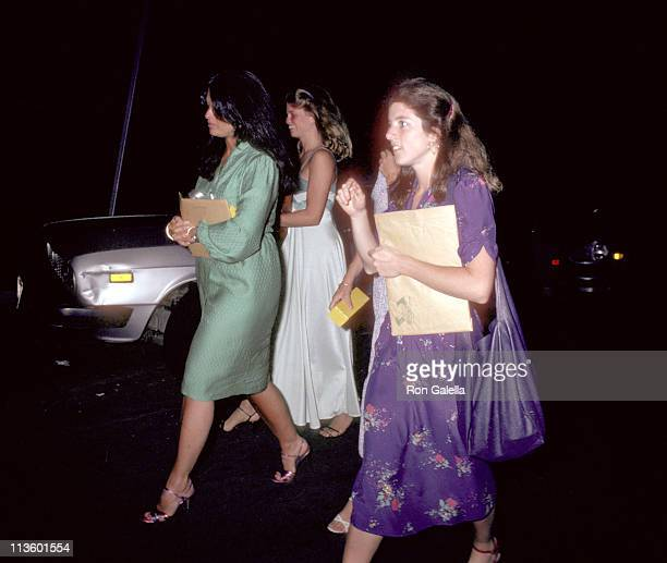 Caroline Kennedy and Maria Shriver during Rehearsal Dinner for Courtney Kennedy and Jeff Ruhe's Wedding at Georgetown Club in Georgetown Washington...