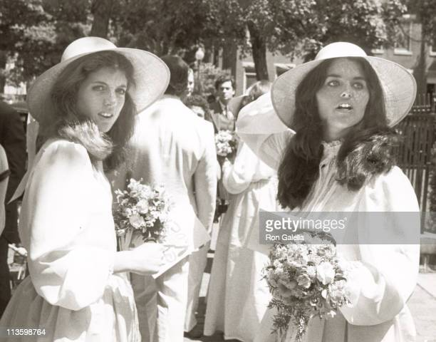Caroline Kennedy and Maria Shriver during Wedding of Courtney Kennedy and Jeff Ruhe at Holy Trinity Church in Georgetown Washington DC United States