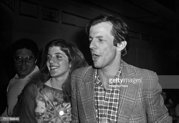 Caroline Kennedy and Peter Beard at Studio 54 circa 1978 in New York City