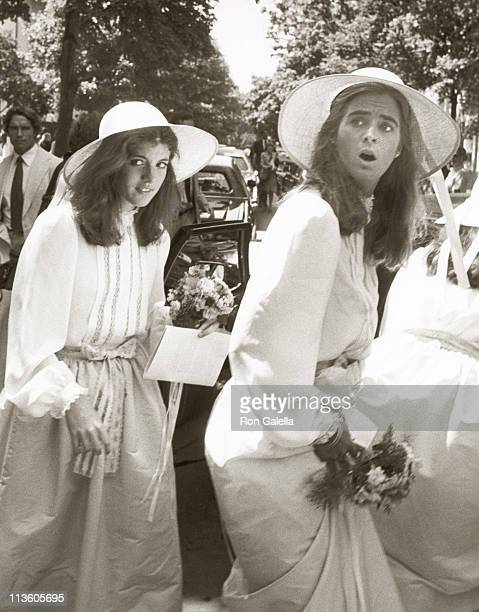 Caroline Kennedy and Sydney Lawford during Wedding of Courtney Kennedy and Jeff Ruhe at Holy Trinity Church in Georgetown Washington DC United States
