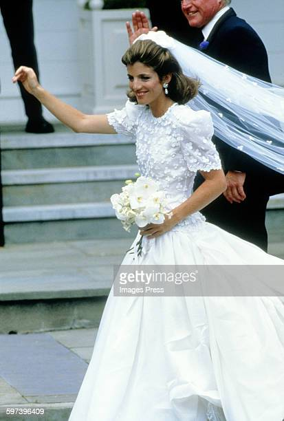 Caroline Kennedy attend the wedding ceremony of Caroline Kennedy and Edwin Schlossberg in the Church of Our Lady of Victory on July 19 1986 in...