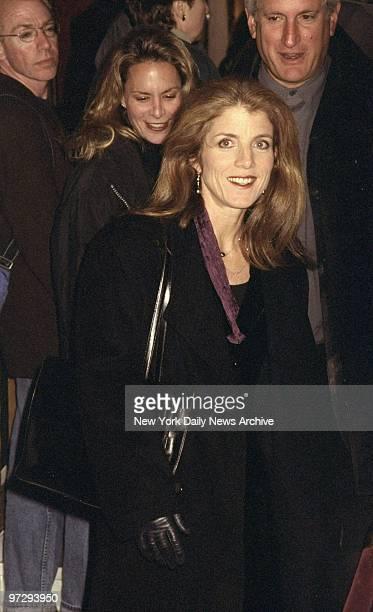 Caroline Kennedy attending movie premiere of Meet Joe Black at the Ziegfeld Theater