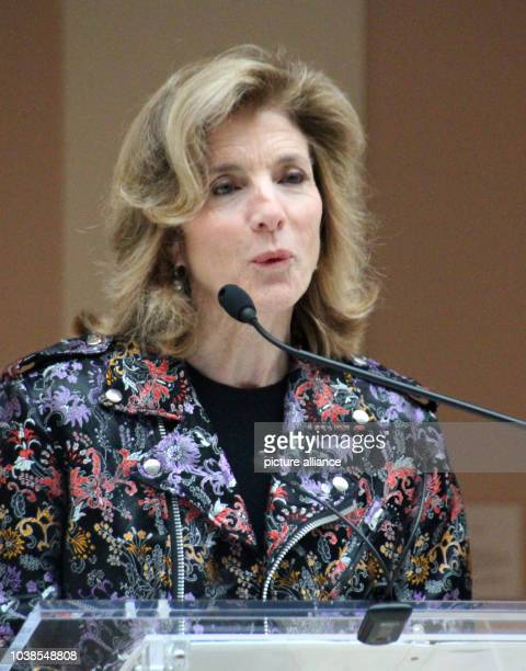 Caroline Kennedy daughter of US President John F Kennedy who was murdered in 1963 and former US Ambassador to Japan speaks at the preview of the...