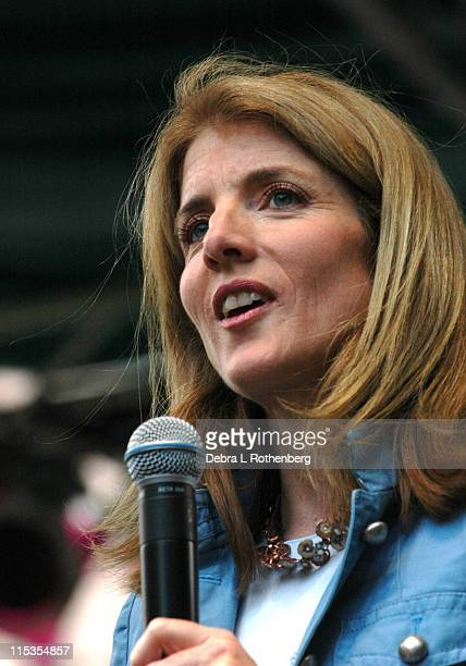 """Caroline Kennedy during Cyndi Lauper And Caroline Kennedy Schlossberg Kick Off """"Shop 4 Class"""" Initiative With A Free Concert To Benefit The Fund For..."""