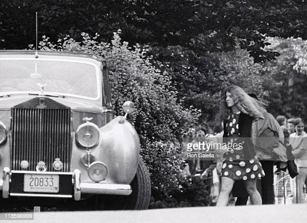 Caroline Kennedy during Returning to Dormitory After Baccalaureate Sermon at Concord Academy in Concord Massachusetts United States