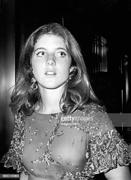 Caroline Kennedy goes braless wearing a dress previously worn by her mother Jacqueline Kennedy Onassis circa 1977 in New York City