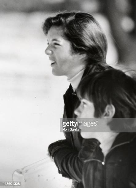 Caroline Kennedy John F Kennedy Jr during John Kennedy Jr Caroline Kennedy Sledding In Central Park at Central Park in New York City New York United...