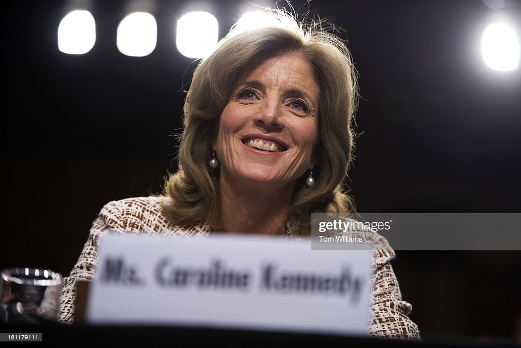 Caroline Kennedy, nominee for ambassador to Japan, testifies at her confirmation hearing before the Senate Foreign Relations Committee hearing in Hart Building.