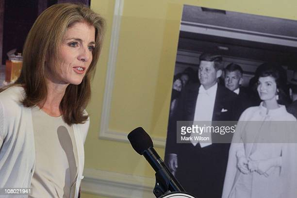 Caroline Kennedy president of the Kennedy Library Foundation participates in an event at the National Archives to unveil US President John F...