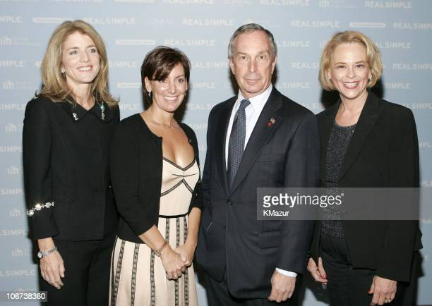 Caroline Kennedy Robin Domeniconi president of Real Simple New York City Mayor Michael Bloomberg and Ann Moore