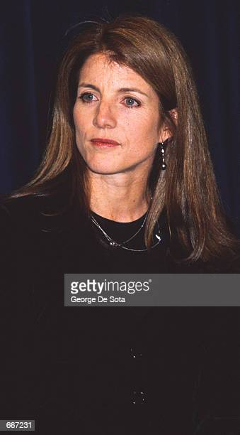 Caroline Kennedy Schlossberg attends a function to announce a scholarship to benefit The Jackie Robinson Foundation Scholarship Fund March 8 1999 at...