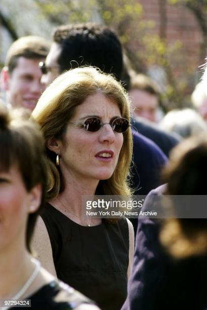 Caroline Kennedy Schlossberg is in attendance for the wedding of relative Amanda Kennedy Smith and Carter Hood which took place at the Queen of the...