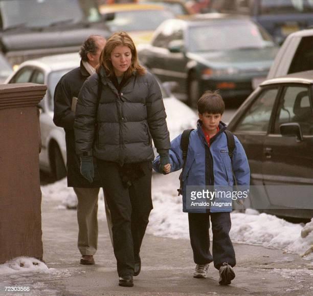 Caroline Kennedy Schlossberg walks with her son John Schlossberg on the upper east side of Manhattan February 1 2000 in New York City This July 16th...