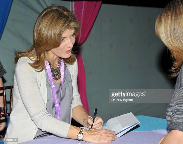 Caroline Kennedy signs copies of her book A Family Christmas at the 2009 Women's Conference Day 1 at Long Beach Convention Center on October 26 2009...