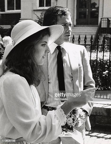 Caroline Kennedy Tom Carney during Wedding of Courtney Kennedy and Jeff Ruhe at Holy Trinity Church in Georgetown Washington DC United States