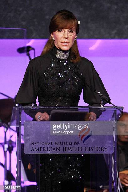 Caroline Kimmel speaks onstage at the National Museum of American Jewish History opening gala hosted by Jerry Seinfeld and featuring Bette Midler at...