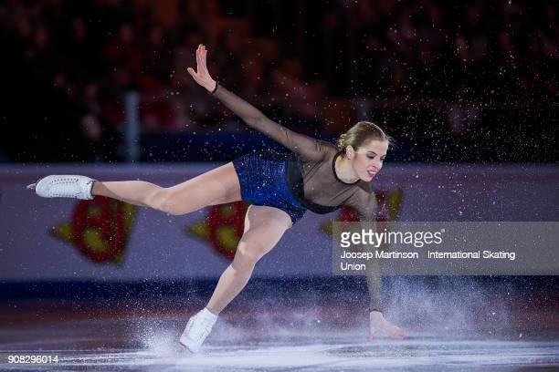 Caroline Kostner of Italy performs in the Gala Exhibition during day five of the European Figure Skating Championships at Megasport Arena on January...