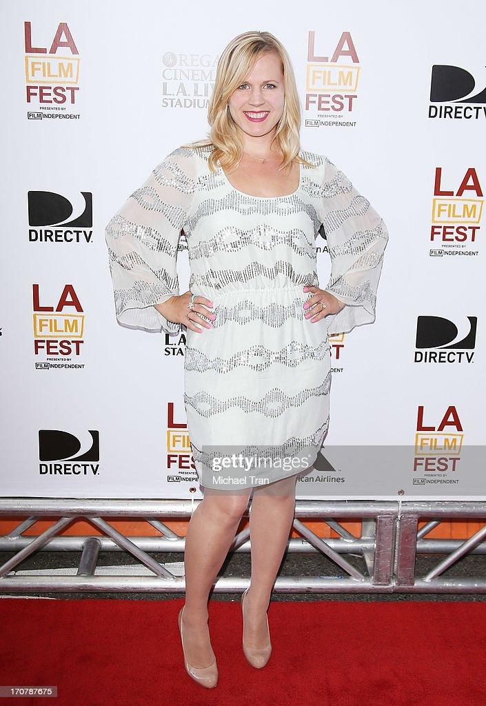 Caroline Lesley arrives at the 2013 Los Angeles Film Festival 'Fruitvale Station' premiere held at Regal Cinemas L.A. LIVE Stadium 14 on June 17, 2013 in Los Angeles, California.