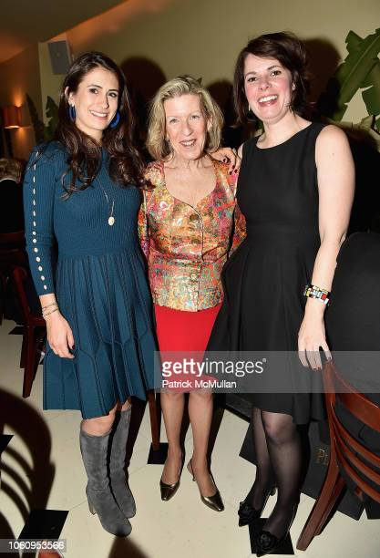 Caroline Leventhal Maureen Kerr and Jessica Beck attend The Andy Warhol Museum's Annual NYC Dinner at Indochine on November 12 2018 in New York New...